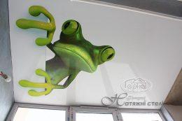 натяжні стелі фотодрук ящірка