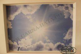 натяжные потолки рисунок небо