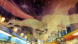 натяжные потолки в торговом зале