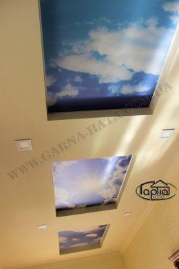 небо на натяжные потолки