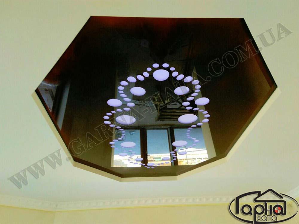 резные натяжные потолки apply в форме рисунка