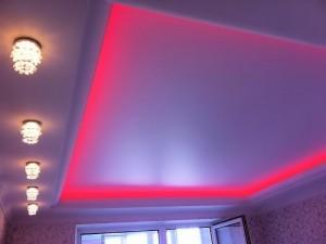 Современный натяжной потолок, потолочное освещение идей 2014