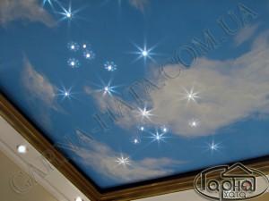 Стоимость натяжного потолка звездное небо, потолок небо