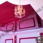 натяжные потолки бордовый цвет