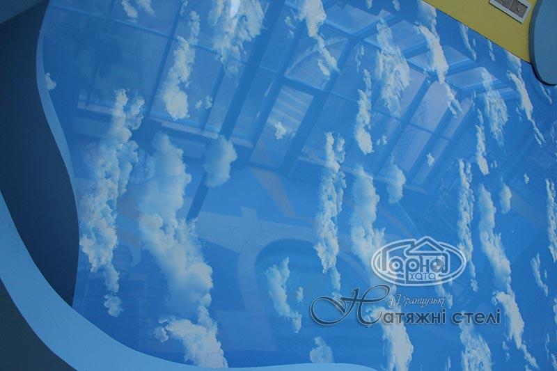 декоративная пленка небо на потолке