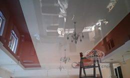 двох кольорів натяжні стелі глянець луцьк
