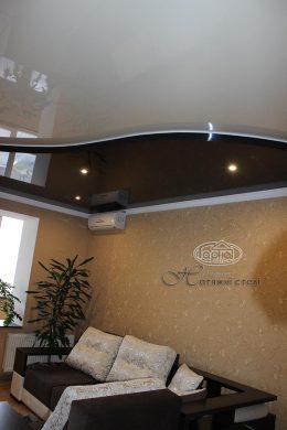 двухуровневый натяжной потолок квартира