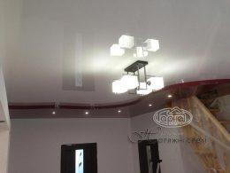 двухуровневые натяжные потолки цена