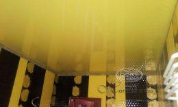 глянцева натяжна стеля, жовтий колір
