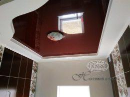 глянцеві натяжні стелі коричневий колір