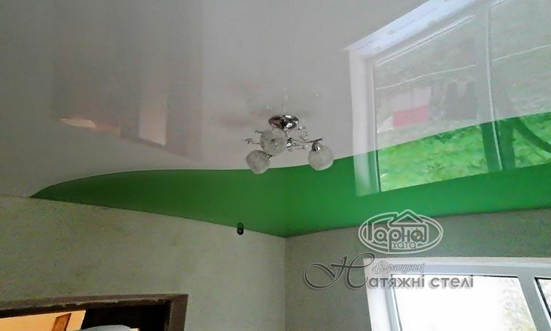 комбинированные натяжные потолки дизайн фото