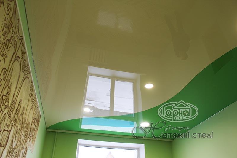 комбинированные натяжные потолки дизайн