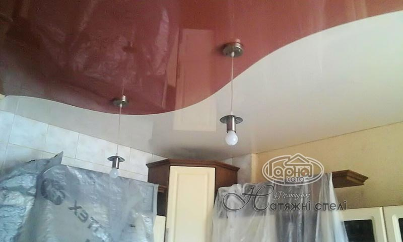 комбинированные натяжные потолки горохов