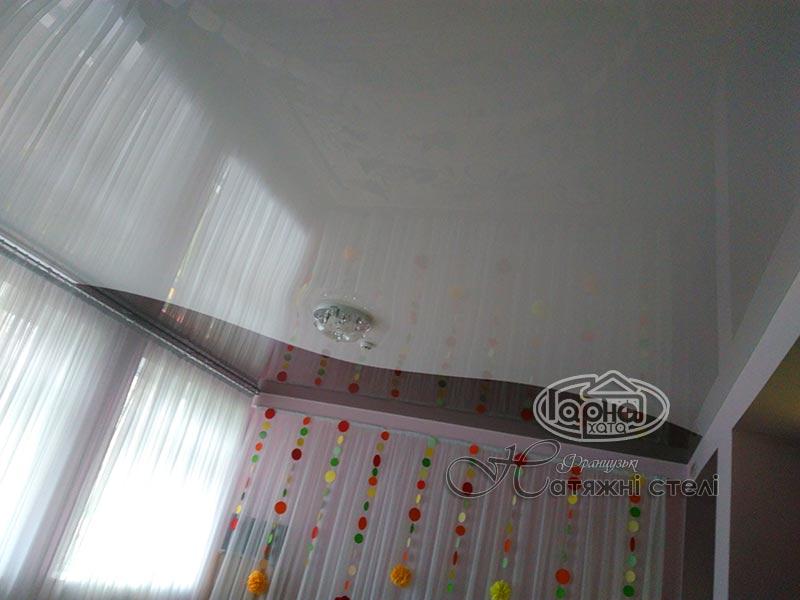 комбинированные натяжные потолки ковель