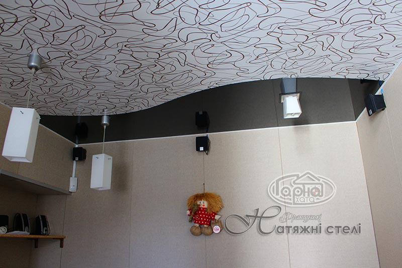натяжной декор потолок