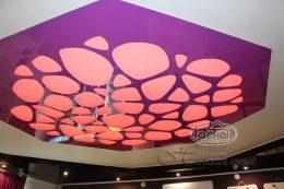 натяжной потолок apply красная подсветка