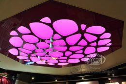 натяжной потолок apply розовая подсветка