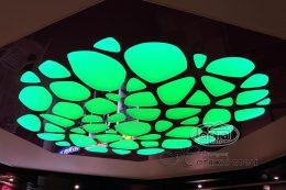 натяжной потолок apply зеленая подсветка