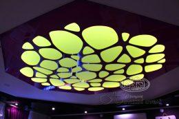 натяжной потолок apply желтая подсветка