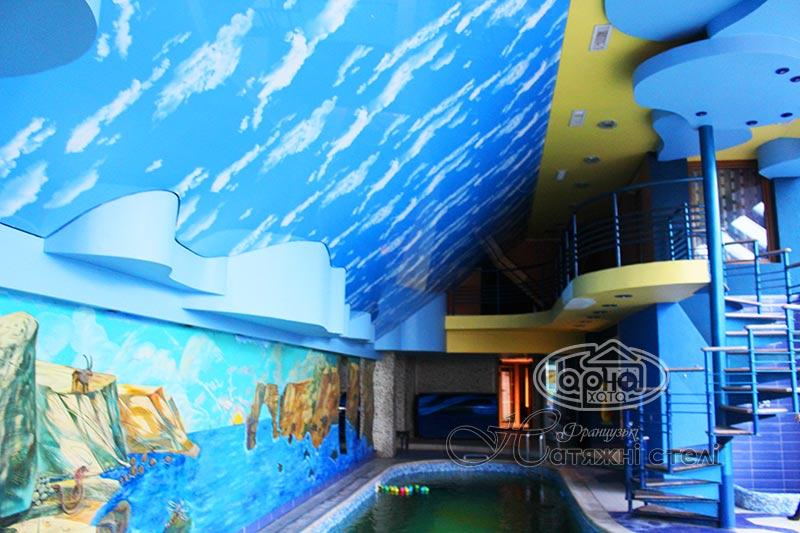 натяжной потолок небо декор пленка