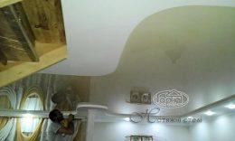 натяжні стелі з гіпсокартоном різної форми