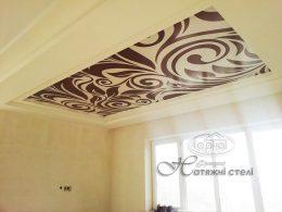натяжные потолки с узором, рисунком
