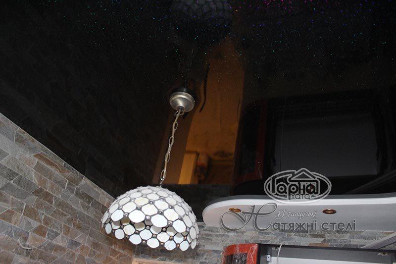 натяжные потолки со звездами в комнате