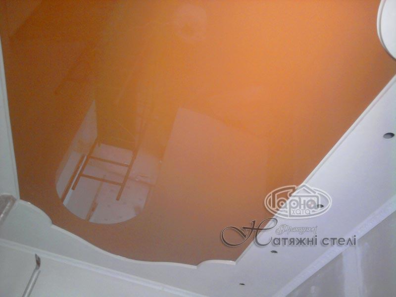 оранжеві натяжні стелі