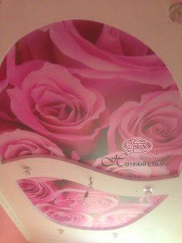 роза на натяжній стелі