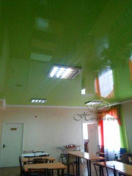 салатові глянцеві натяжні стелі