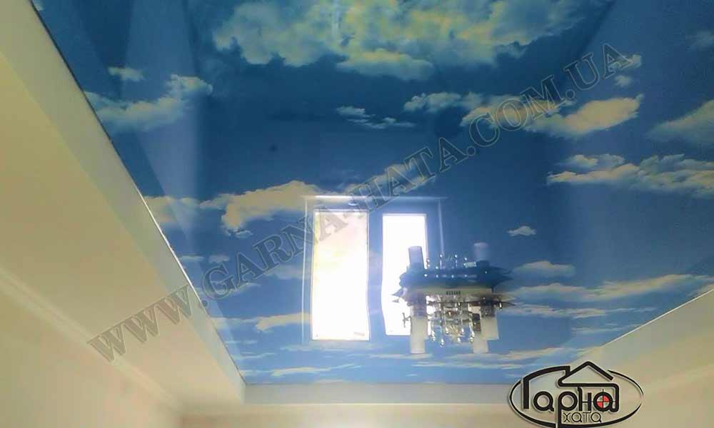 натяжні стелі львів голубе небо
