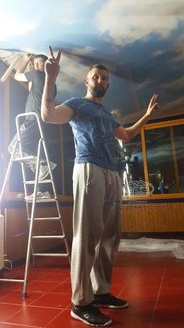 Натяжні стелі Гарна Хата в Італії на кораблі
