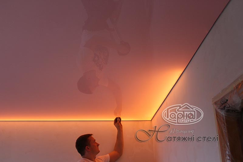 декоративная подсветка натяжного потолка