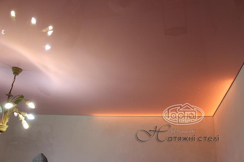 глянец в Луцке, натяжные потолки с подсветкой