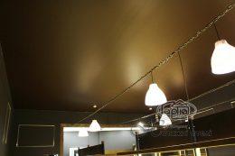 коричневі матові натяжні стелі