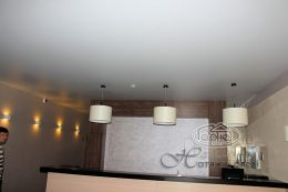 матовой натяжной потолок в караоке клубе