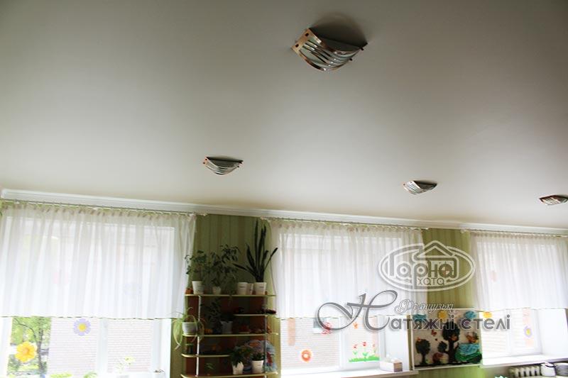 матовые натяжные потолки детский сад 3