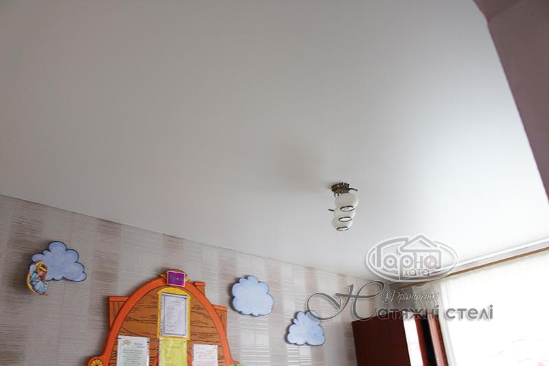 матовые натяжные потолки в дет. саду