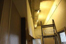 монтаж натяжных потолков в клубе Версаль