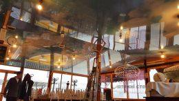 натяжна стеля небо на кораблі в ресторані