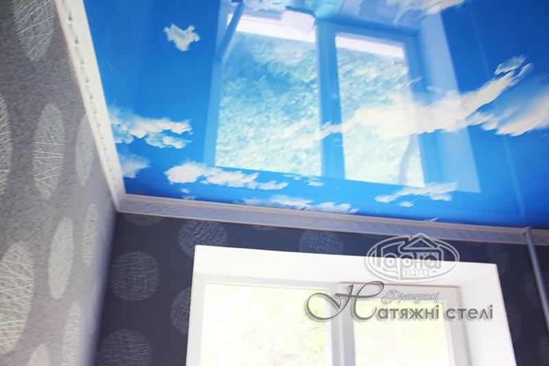 натяжні стелі блакитне небо з фотодруком