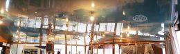 натяжні стелі на кораблі в ресторані zvirbulis