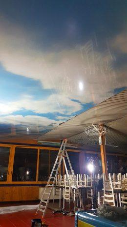 натяжні стелі небо з фотодруком на кораблі