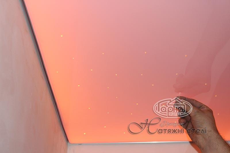 натяжные потолки подсветка с старпинсамы