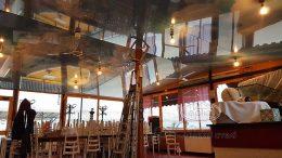 натяжні стелі в ресторані, Європа