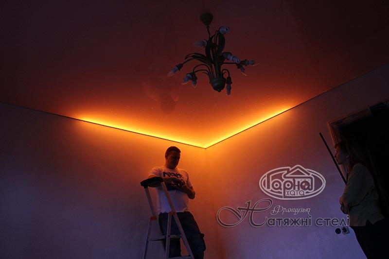 натяжные потолки со светодиодной подсветкой