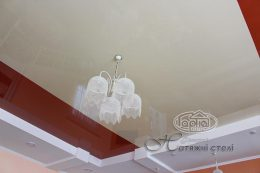 глянцеві натяжні стелі різнокольорові