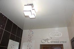 глянцеві натяжні стелі в туалеті
