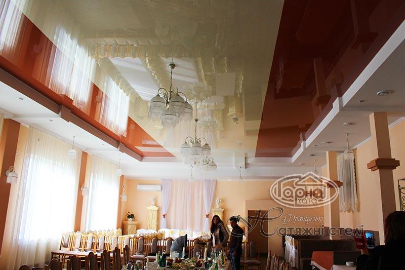 комбинированные натяжные потолки в луцке