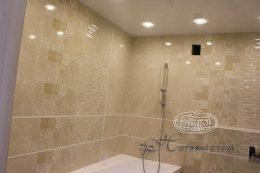 натяжна стеля в ванній кімнаті